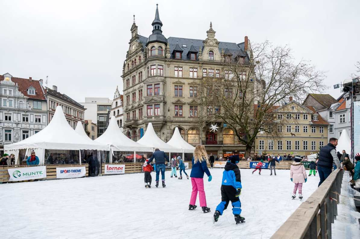 Kohlmarkt mit Eislauffläche