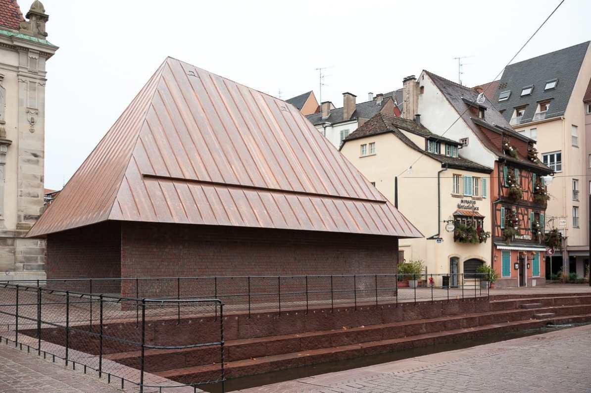 Moderne Architektur am Musée Unterlinden