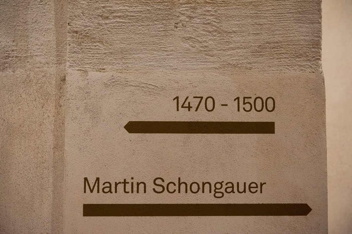 Würdigung des Martin Schongauers mit eigenem Saal