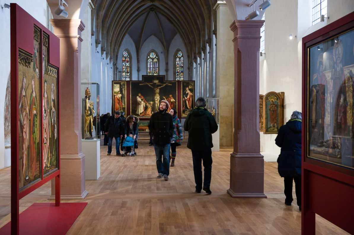 Der Weg zum Isenheimer Altar in der Kapelle