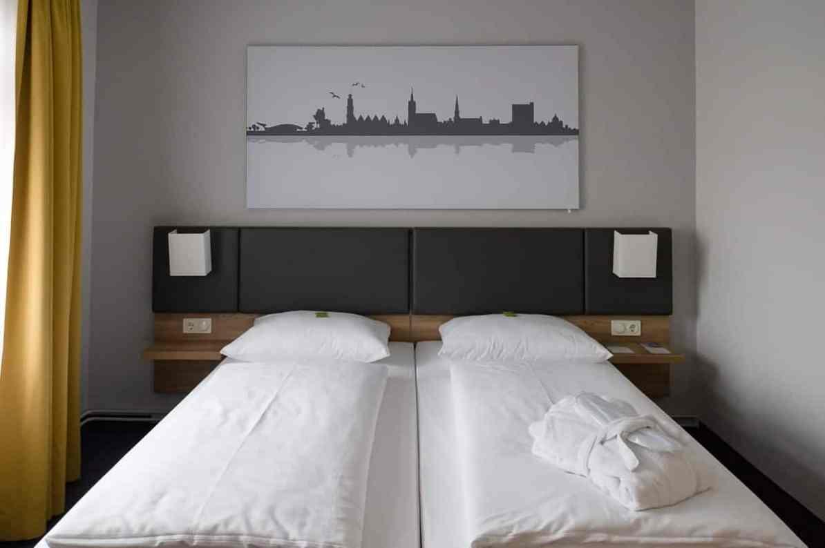 Mein Bett im GHotel Hannover