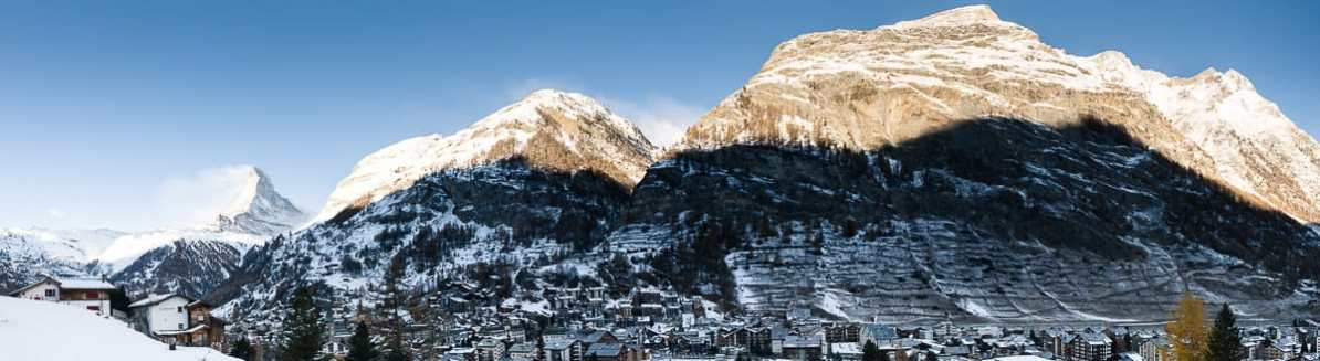 Panorama von Zermatt mit Matterhorn
