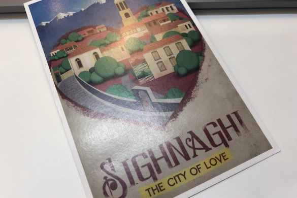 Postcard of the Week: Sighnaghi, Georgien