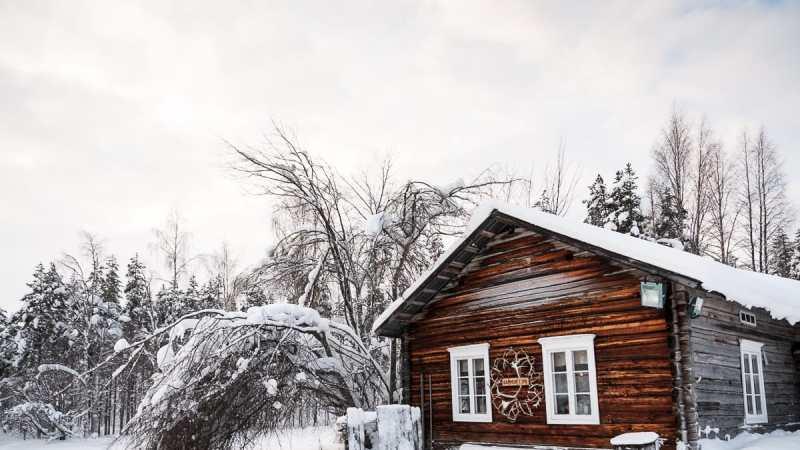 Hütte an der Rentier-Farm in Lappland, Finnland