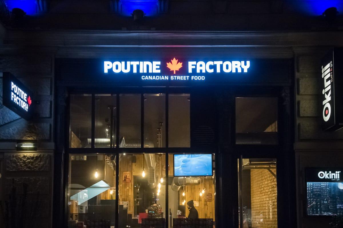 Poutine Factory in Wiesbaden von aussen