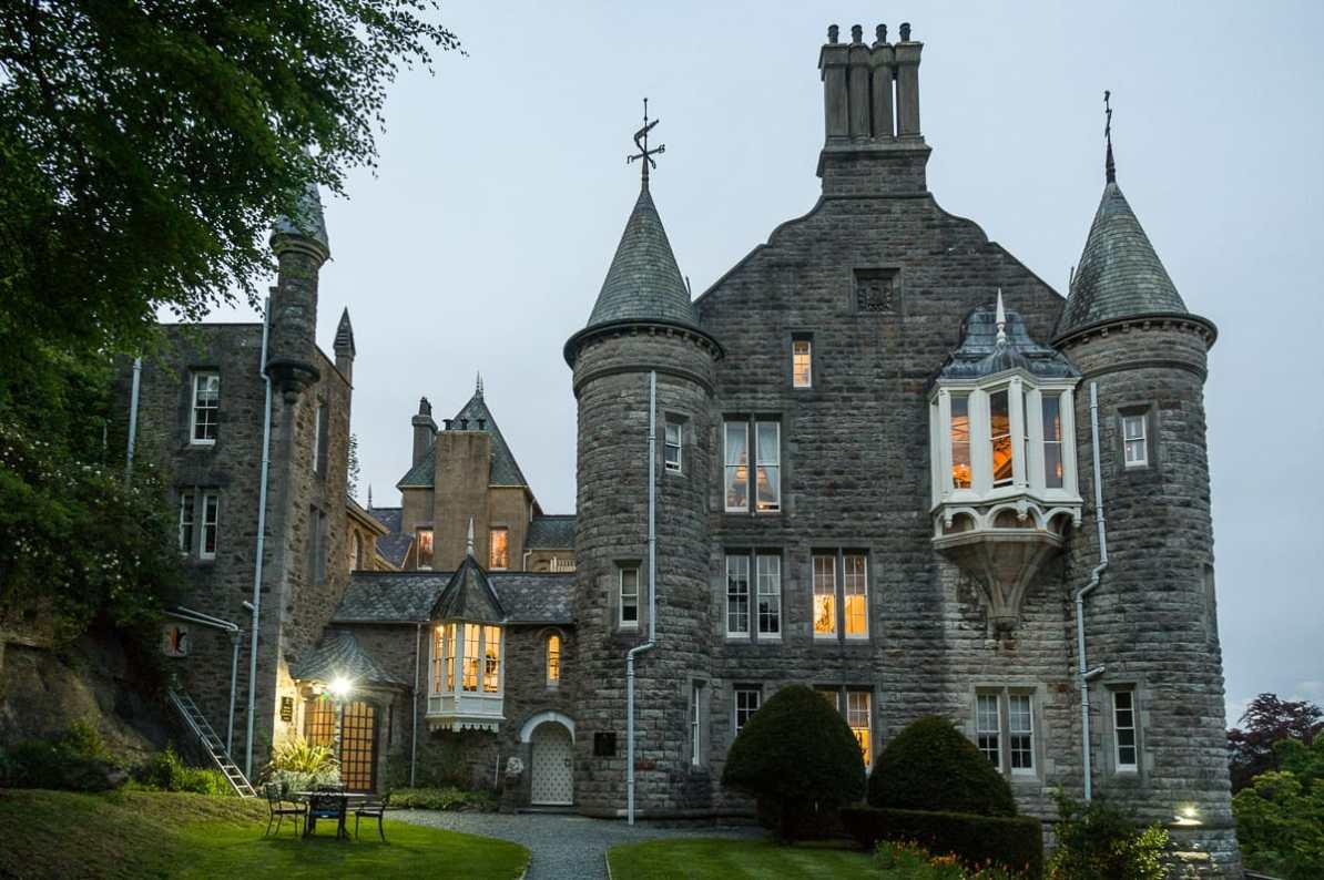 Château Rhianfa, Anglesey am Abend