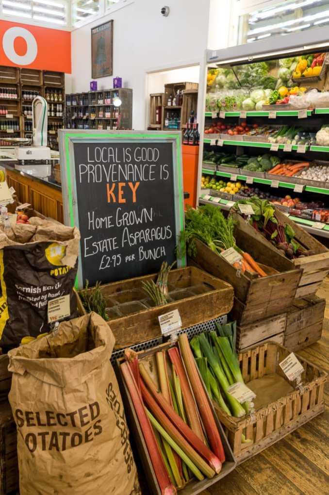 Frisches Obst und Gemüse im Hawarden Estate Farm Shop