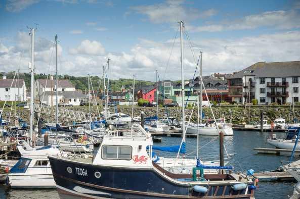 Boote im Hafen von Aberystwyth