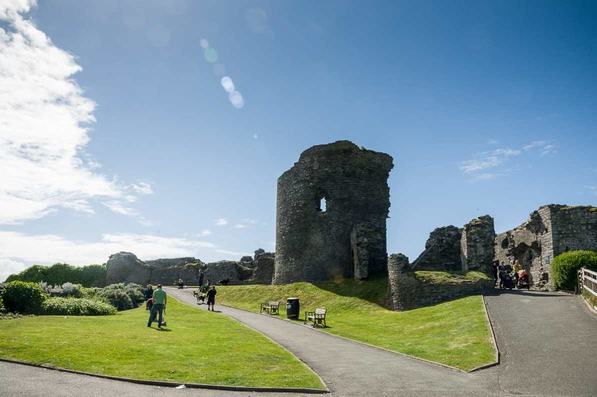 Ruinen des Aberystwyth Castle