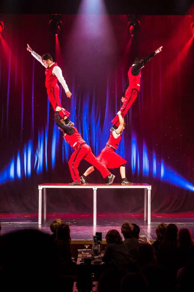"""Die kanadische Truppe """"Quatuor Stomp"""" im GOP Essen"""