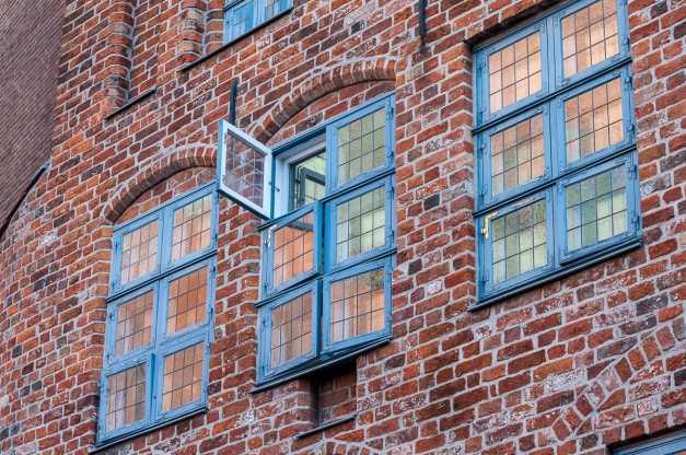 Fensterfront eines Patrizierhauses