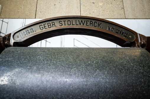 Eine alte Schokoladenwalze von Stollwerck