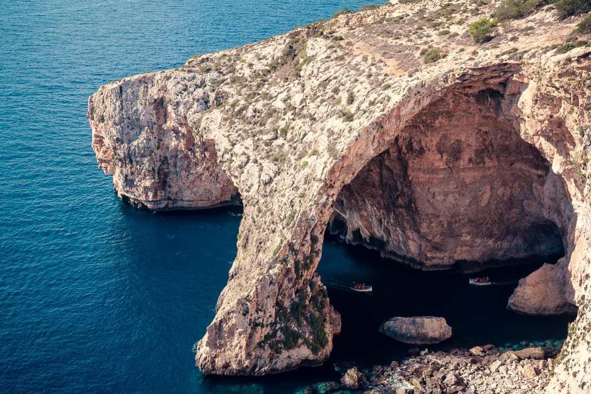 Blaue Grotte an der Südküste von Malta