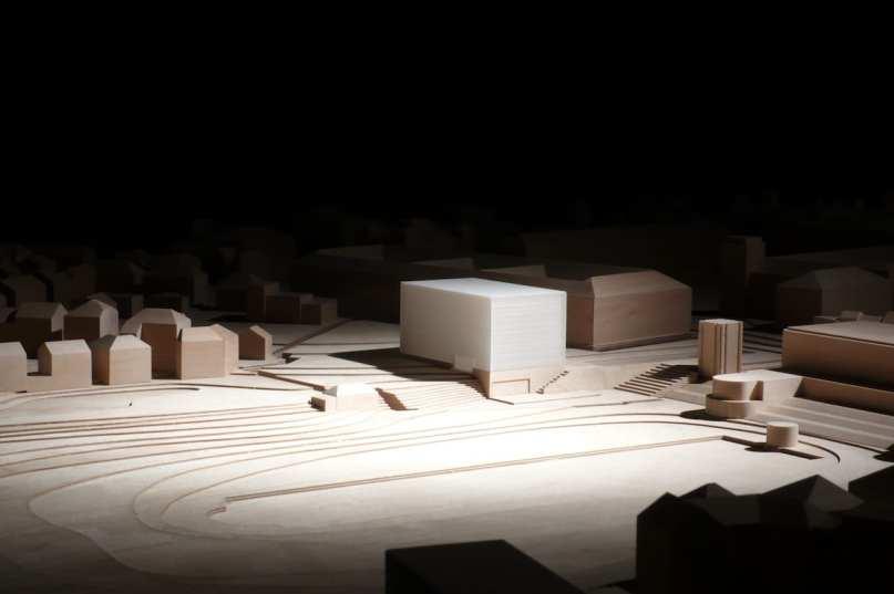 Modell Bauhaus Museum Weimar Entwurf: Prof. Heike Hanada mit Prof. Benedict Tonon Foto: Candy Welz / ©Klassik Stiftung Weimar Quelle: Bauhaus100.de Jubiläumsprogramm.