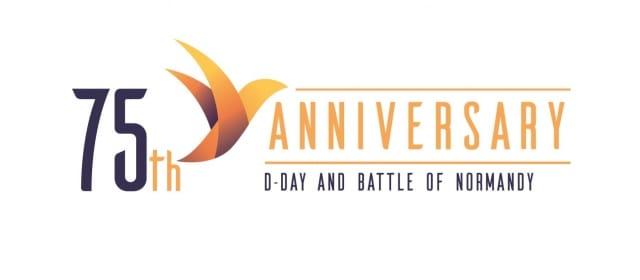 Logo des 75. Jubiläums D-Day und Schlacht in der Normandie.