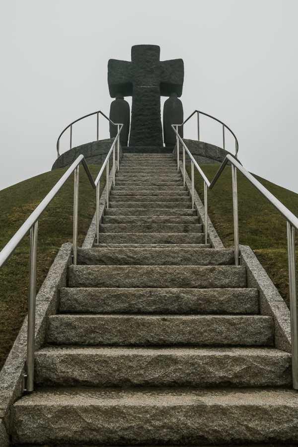 Treppe des Hügelgrabs - Aussichtspunkt in La Cambe.