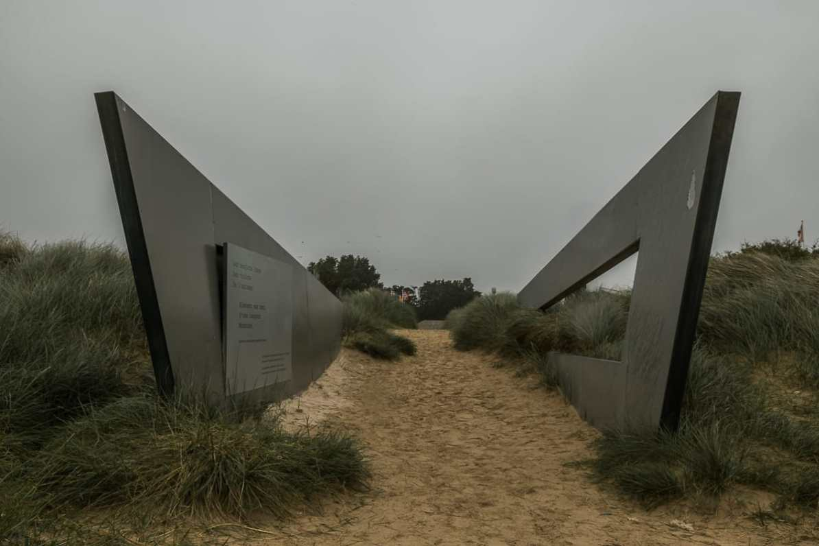 Eingang zum Strand (Juno Beach)
