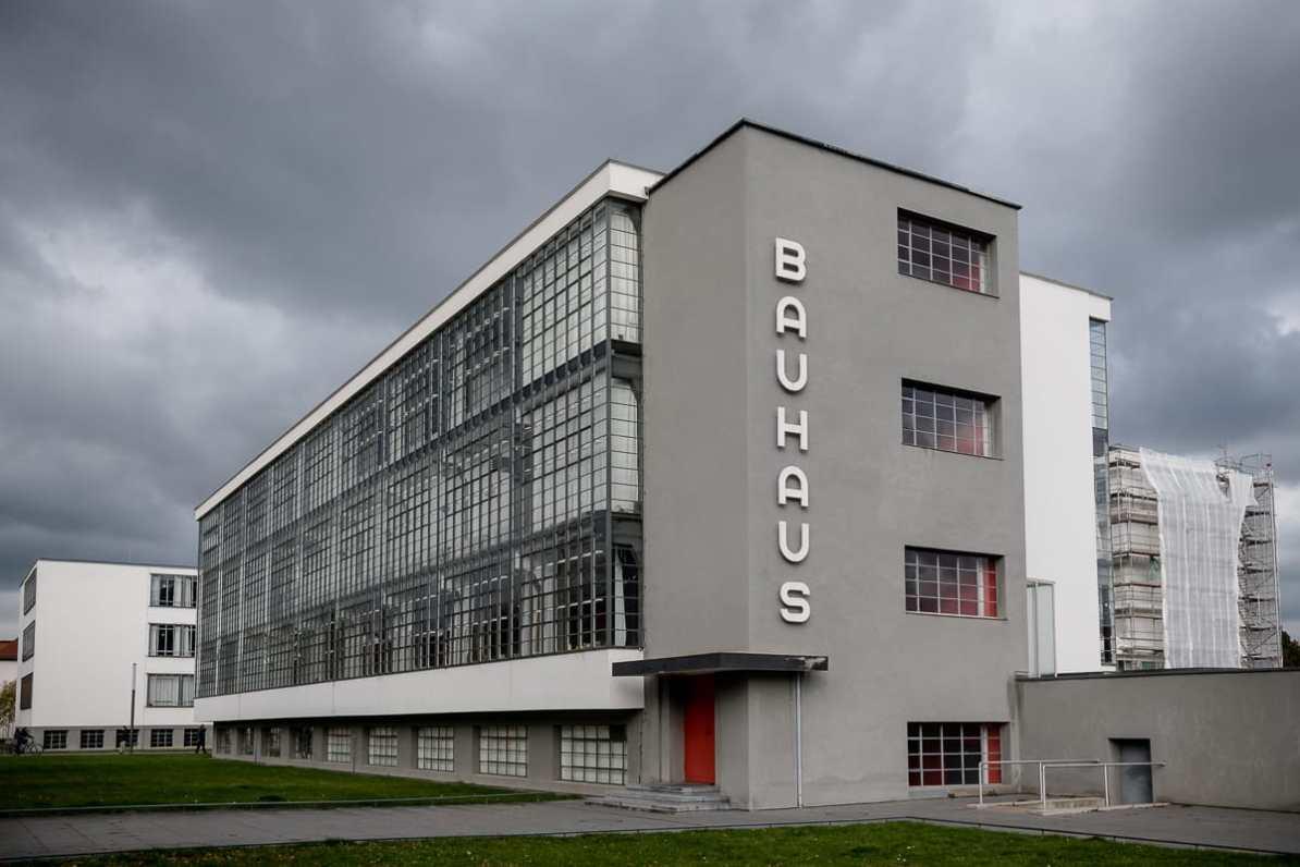 Bauhausgebäude in Dessau, Oktober 2018.