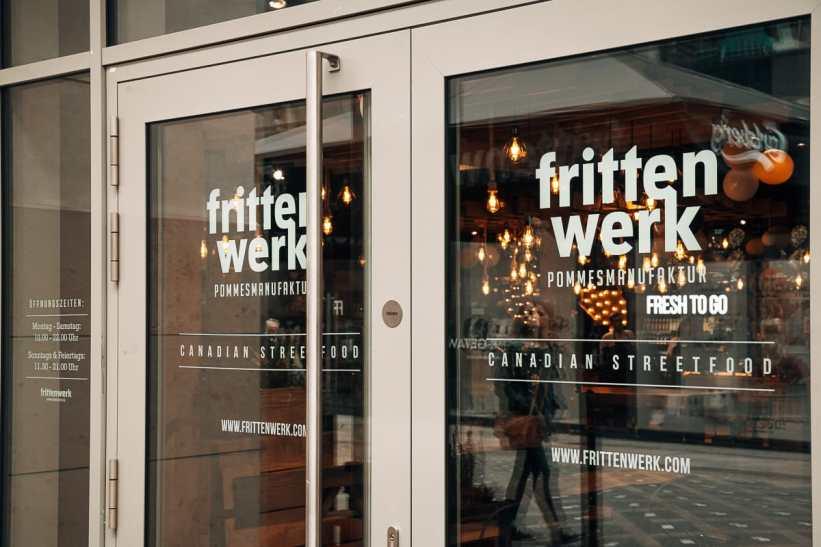 Die Tür zum Frittenwerk Dortmund