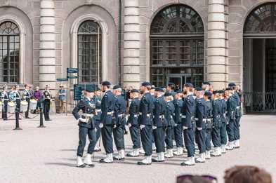 Wachwechsel der Palastwache am Stockholmer Schloss