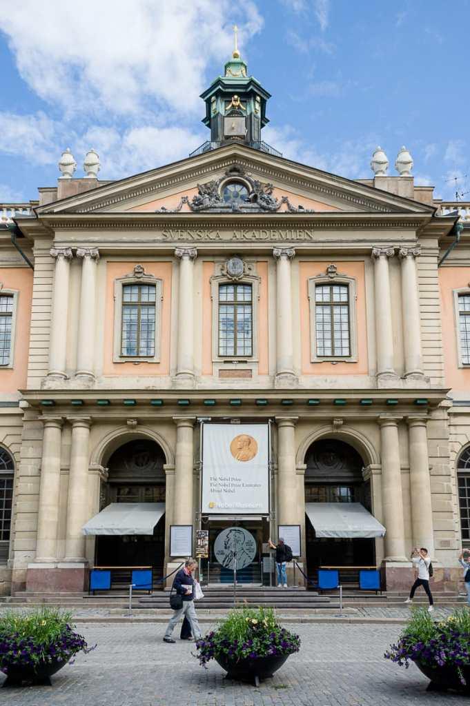 Stockholms alte Börse - Sitz der Svenska Akademien, die den Nobelpreis vergibt.