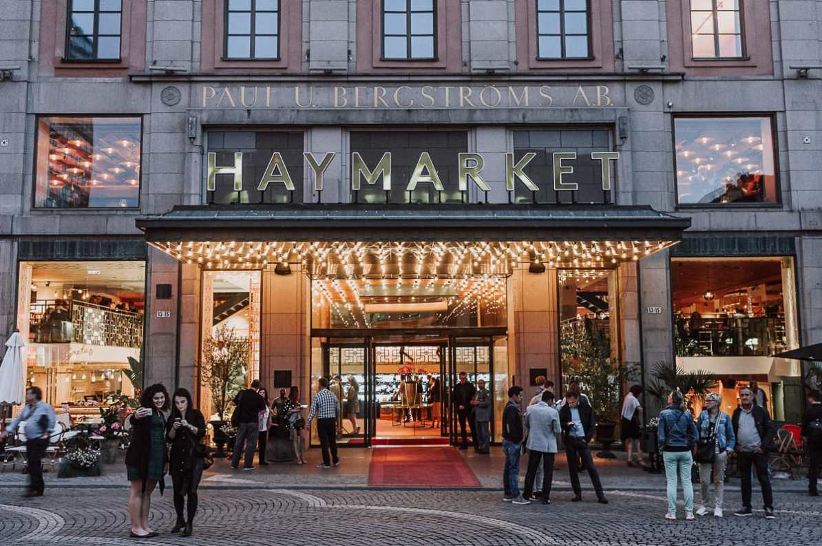 Eingang des Haymarket by Scandic Hotels in Norrmalm