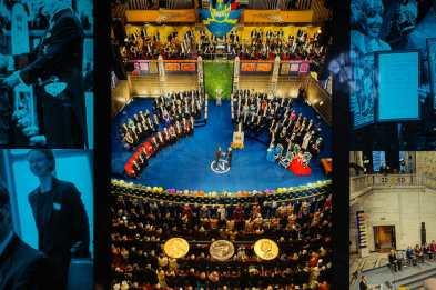 Bild einer Nobelpreisverleihung durch den König