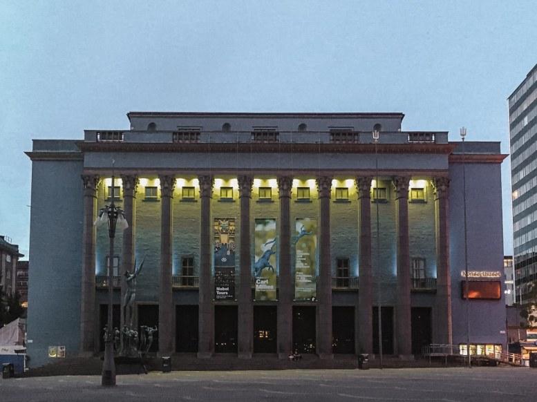Konzerthaus in Norrmalm am Abend