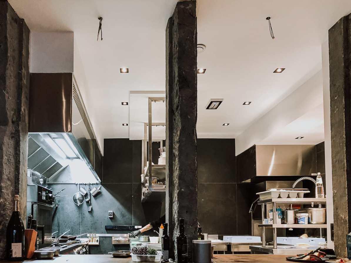 Offene Küche im Terra, Terrae Restaurant.