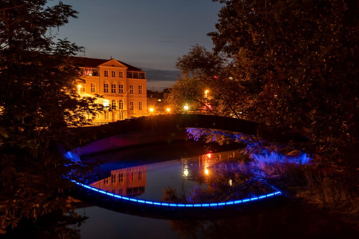 III Bogen der Erinnerung - Dauerinstallation beim Lichtparcours in Braunschweig.
