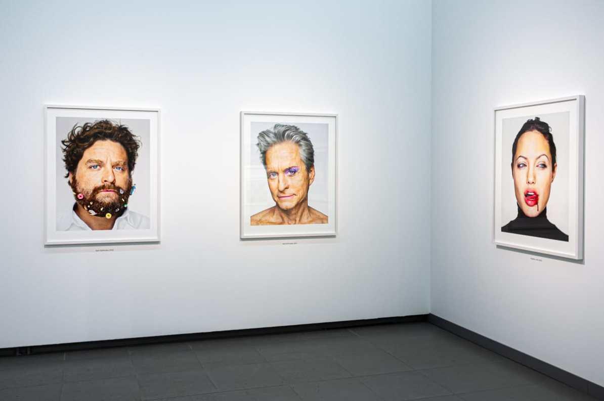 Portraits - drei Bilder u.a. mit Michael Douglas und Angelina Jolie.