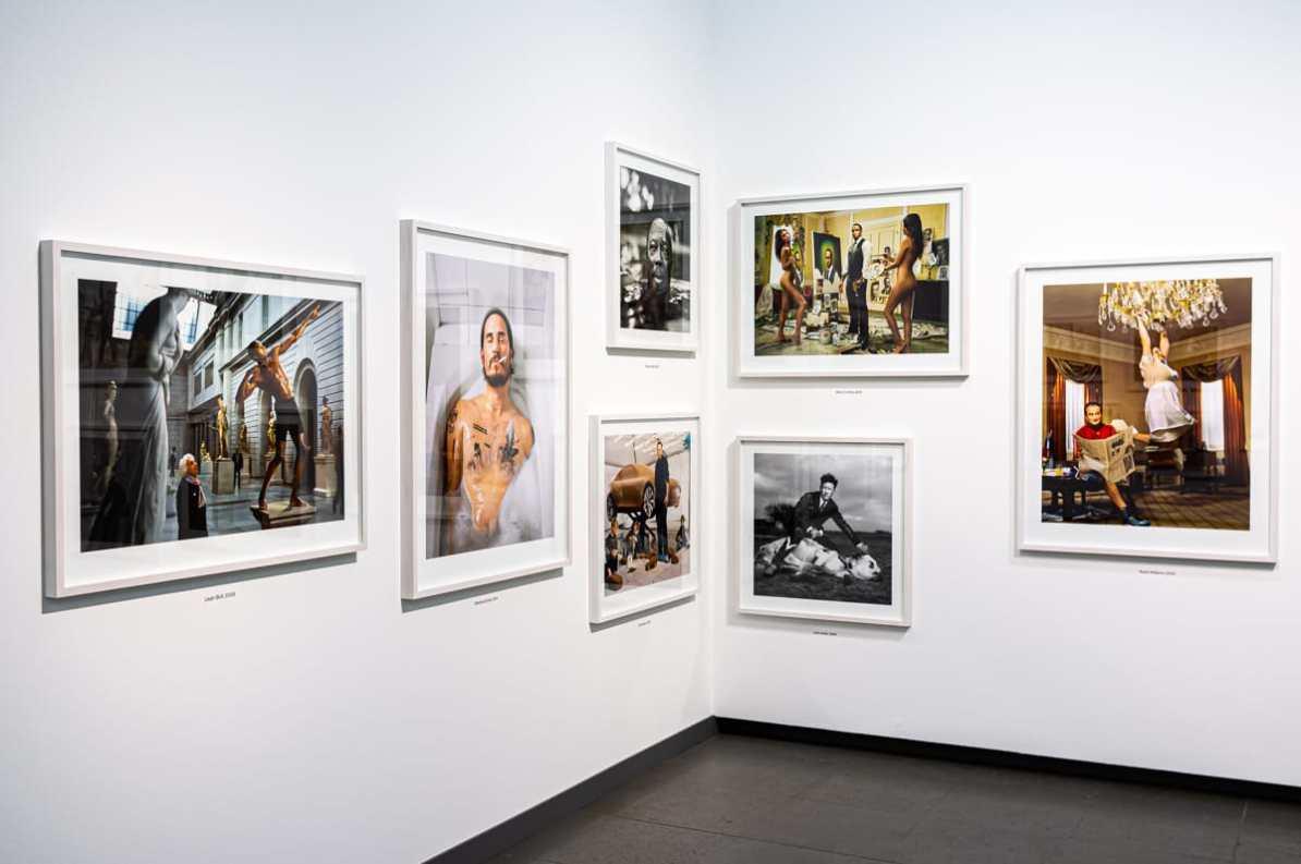Fotos aus der Serie Portraits mit Usain Bold, Elon Musk, Lyle Lovett und anderen.