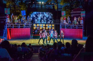 Cast of Grease Photo by Philip Hamer The Muny