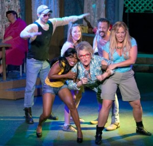 Cast of The Great American Trailer Park Musical Photo by John Lamb Dramatic License Productions