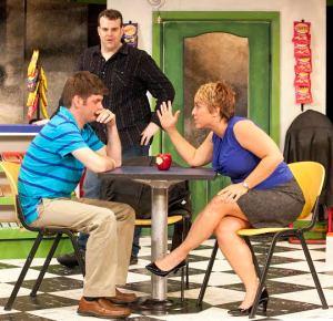 Nathan Bush, Jared Sanz-Agero, Pamela Reckamp Photo by John Lamb Max & Louie Productions