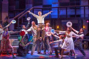 Martin Fox (center) and Cast Photo by John Lamb Insight Theatre Company