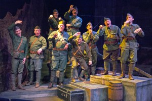 Cast of All Is Calm: The Christmas Truce of 1914 Photo by John Lamb Mustard Seed Theatre