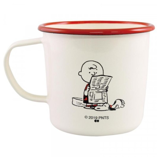 スヌーピーのホーローマグカップ