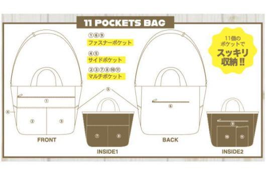 スヌーピーの11ポケットバッグ
