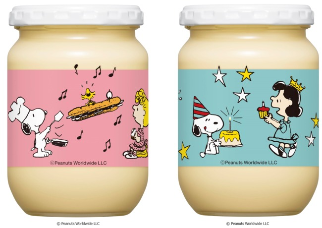 スヌーピーとキューピーマヨネーズのコラボ瓶2021