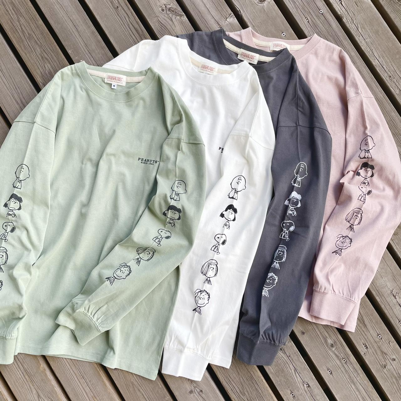 スヌーピー×パワートゥーザピープルのロングTシャツ2021