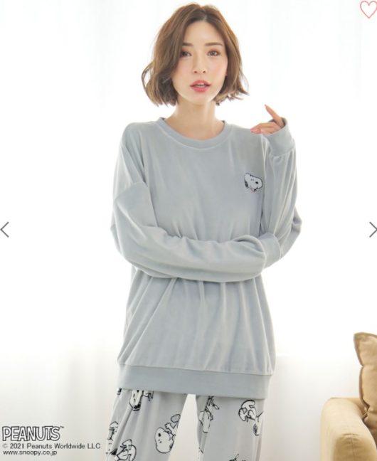 スヌーピーとエメフィールコラボのパジャマ2021秋