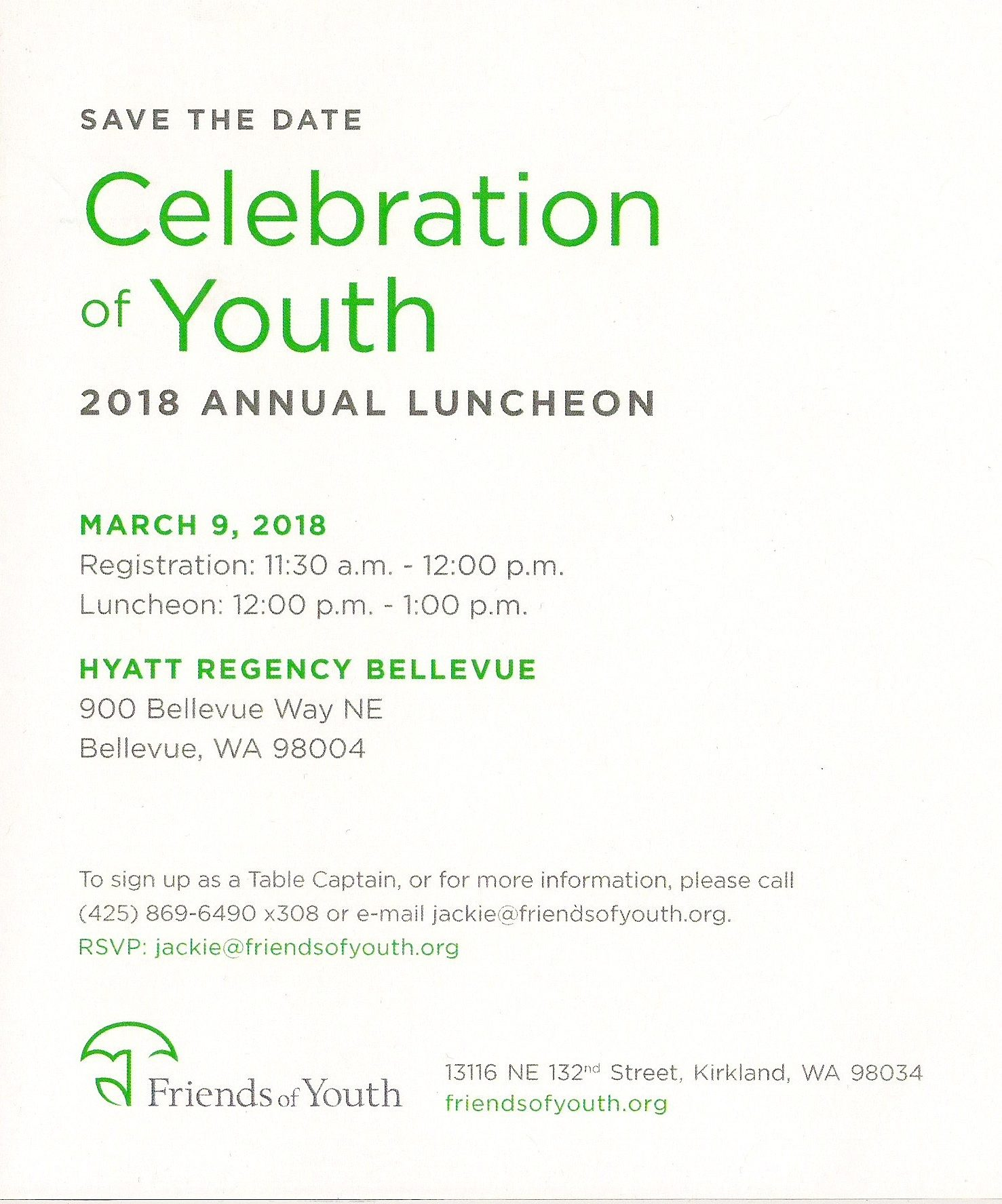Celebration of Youth 2018 Annual Luncheon