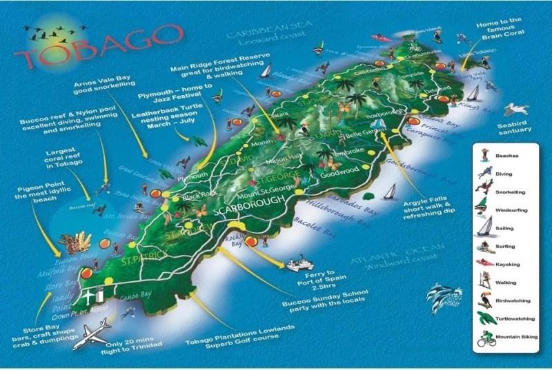 Trinidad & Tobago Map