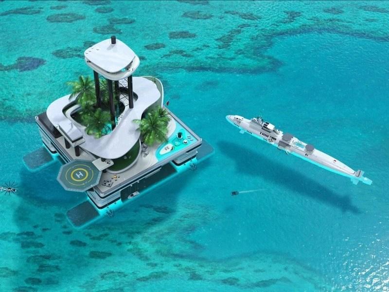 floating island migaloo
