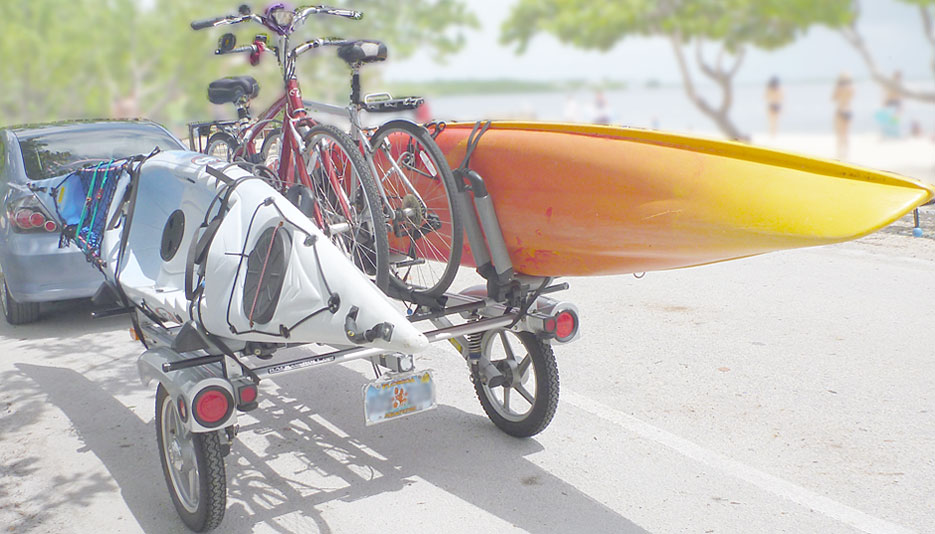 http snorkeling floridaoutdooradventures info rack and roll trailer loaded with bikes and kayaks