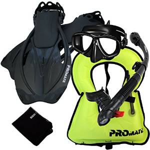 promate snorkeling set with snorkel vest