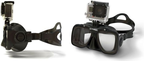 GoPro Action camera Scuba Diving Mask - Front And Side View