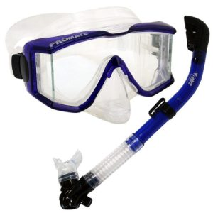 Promate Dry Snorkel and Purge Mask with Panoramic View Set