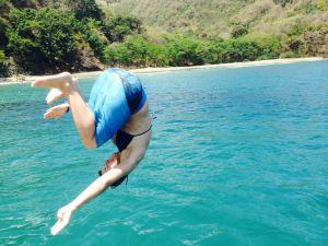 Back Flip in Cotton Bay, Tobago